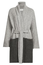 Zadig And Voltaire Two Tone Cardigan With Baby Alpaca Wool Grey
