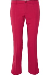 Gucci Cropped Stretch Wool And Silk Blend Flared Pants