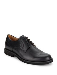 Tod's Leather Lace Up Oxfords Black