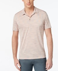 Alfani Black Men's Big And Tall Tobin Marled Polo Only At Macy's Peachy Keen