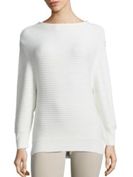 Ag Jeans Clove Cotton And Cashmere Rib Knit Sweater Powder White