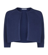 Boss Womenswear Faria Rib Knit Cropped Cardigan Female Blue