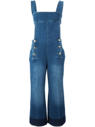 Sonia Rykiel Wide Leg Cropped Dungarees