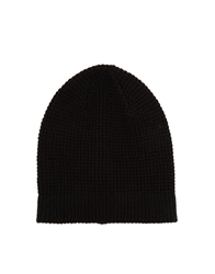 Selected Wrigley Beanie Hat Black