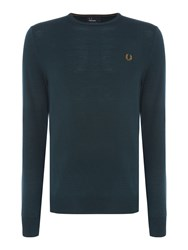 Fred Perry Classic Crew Neck Jumper Green