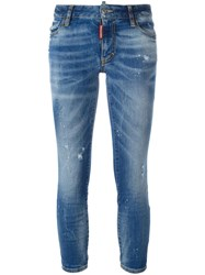 Dsquared2 Twiggy Cropped Jeans Blue