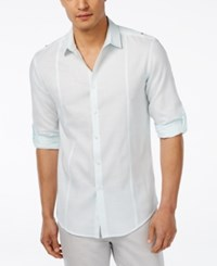 Inc International Concepts Men's Gallagher Long Sleeve Shirt Only At Macy's Mint