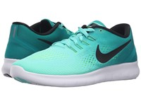 Nike Free Rn Hyper Turquoise Black Rio Teal Volt Women's Running Shoes Blue