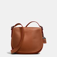 Coach Saddle Bag In Burnished Glovetanned Leather Brown