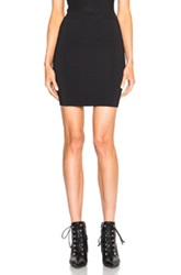 T By Alexander Wang Rayon Spandex Fitted Pencil Skirt In Black