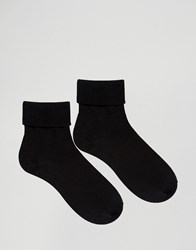 Gipsy Ribbed Top 2 Pack Socks Black