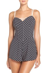 Betsey Johnson Women's Stretch Crepe Teddy Gina Dot