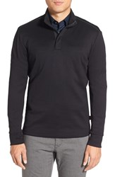 Boss Men's 'Sidney' Regular Fit Quarter Zip Pullover Black