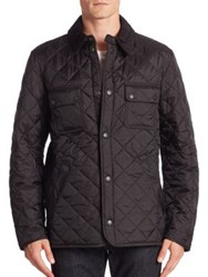 Barbour Snap Front Quilted Jacket Black