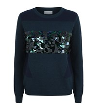 Escada Sport Sequin Detail Jumper Female Navy