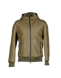 Dirk Bikkembergs Coats And Jackets Jackets Men Military Green