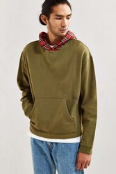Urban Outfitters Uo Boxy Fit Hoodie Sweatshirt Olive