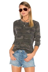 Ragdoll Distressed Camo Sweatshirt Army