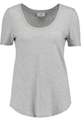 Ag Jeans Kiley Micro Modal And Pima Cotton Blend T Shirt Gray