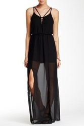 Astr Cutout Strappy Maxi Dress Black