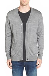 Men's Obey 'Eighty Nine' Cardigan Heather Grey