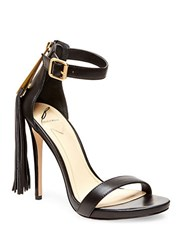 Brian Atwood Tosca Tassel Ankle Strap Sandals Black