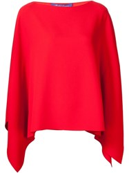 Ralph Lauren Batwing Sleeve Boxy Blouse Red