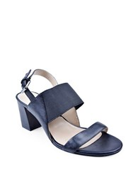 Adrienne Vittadini Panya Leather Sandals Black