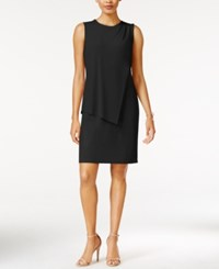 Bar Iii Draped Sheath Dress Only At Macy's Deep Black