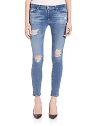 Ag Adriano Goldschmied Distressed Legging Ankle Jeans Teny Cloud