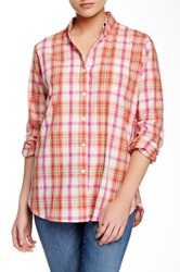 Trovata Classic Plaid Blouse Red
