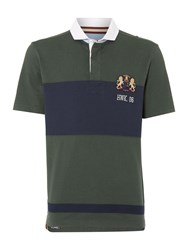 Howick Molsom Panelled Short Sleeve Rugby Shirt Forest