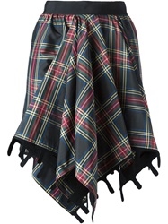 Maison Rabih Kayrouz Draped Tartan Skirt Black