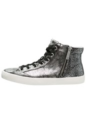 Pepe Jeans Clinton Hightop Trainers Chrome Silver