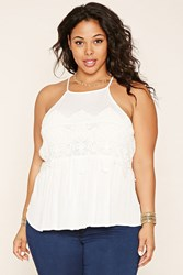 Forever 21 Plus Size Embroidered Lace Top