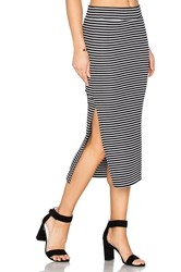 Atm Anthony Thomas Melillo Striped Rib Skirt Black And White