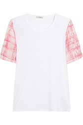 Clu Etch Cotton And Modal Blend T Shirt