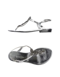 Barbara Bui Thong Sandals Silver