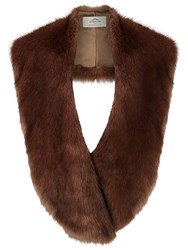 Urbancode Oversized Faux Fur Scarf Brown