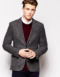 Reiss Blazer In Regular Tailored Fit Offblack