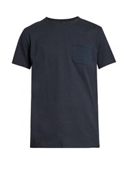 A.P.C. Murray Patch Pocket Cotton T Shirt Navy