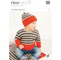 Rico Baby Classic Dk Jumper And Hat Knitting Pattern 198