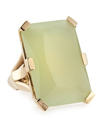 Stephen Dweck Emerald Cut Lime Jade Triplet Ring