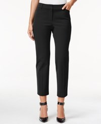 Charter Club Bistretch Slim Crop Pants Only At Macy's Deep Black