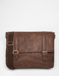 New Look Faux Leather Satchel Brown