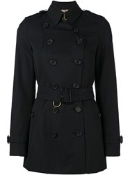 Burberry London Double Breasted Trench Coat Blue