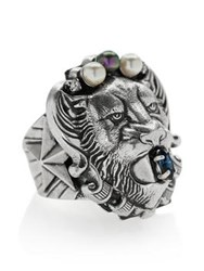 Anton Heunis Lion Head Ring Silver Plated