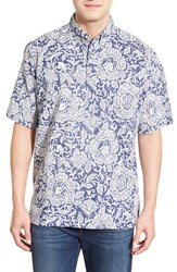 Men's Reyn Spooner 'Year Of The Monkey' Classic Fit Short Sleeve Print Sport Shirt Royal