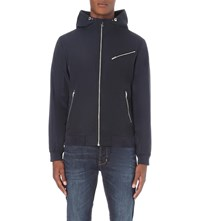 Reiss Reynolds Hooded Shell Jacket Navy