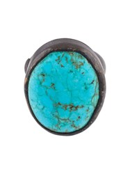 Monies Turquoise Black Copper Ring Blue